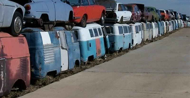 This is so called Blake's VW Graveyard. A salvage yard in Erie, Colorado where the perimeter is apparently lined with VW Buses. The yard was visited by Denver based van club Split Window Syndicate back in 2007 when they created this video. The site is even clearly visible on Google Earth: View Larger Map Source: Split Window Syndicate Share your ... Read More