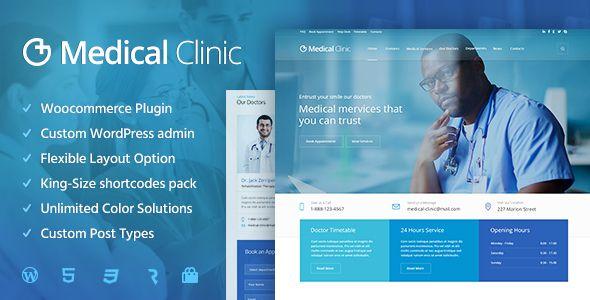 Medical Clinic - Health  Doctor Medical WordPress Theme Wordpress - doctor office website template