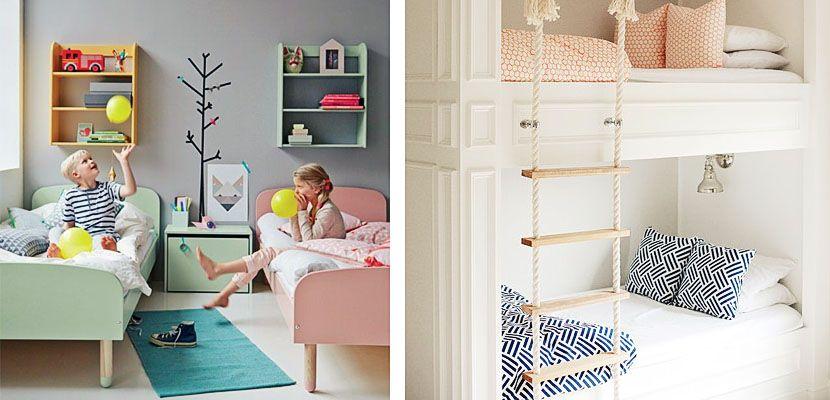 Dormitorios infantiles compartidos para ni o y ni a for Habitacion decoracion industrial