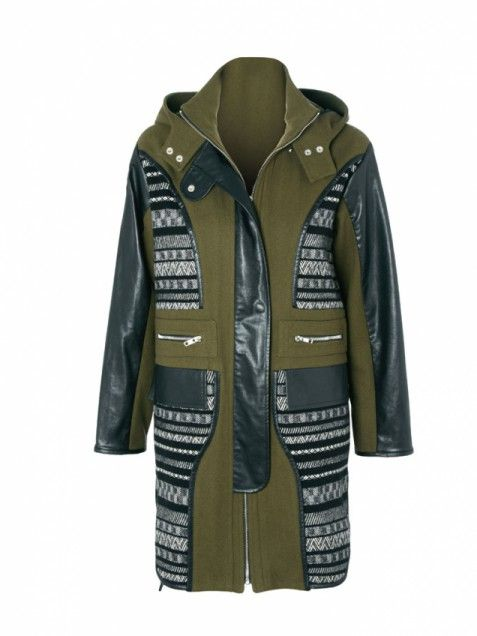 741b73a83 Mixed Media The classic parka gets a modern twist with buttery leather-like  trim and
