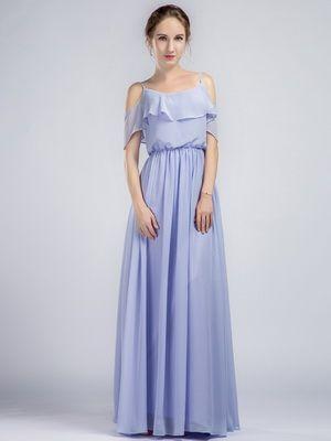 Purple Bridesmaid Dresses on Sale | Long lights, Chiffon bridesmaid ...