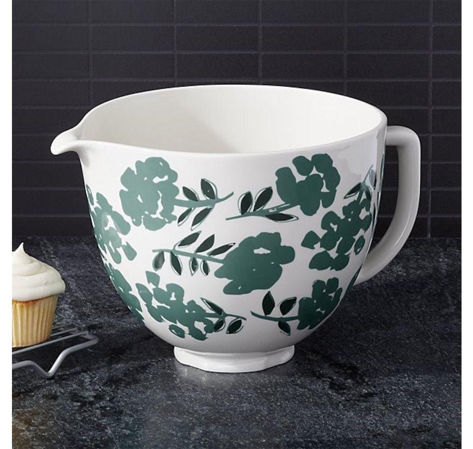 Kitchenaid 5quart flora ceramic bowl kitchenaid bowl