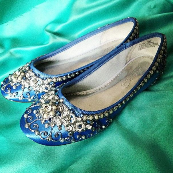 60e3252f35e3 Cinderella s Slipper Bridal Ballet Flats Wedding Shoes - Any Size - Pick  your own shoe color and crystal color.  205.00