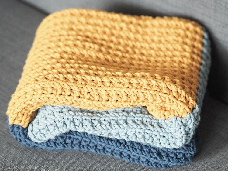 DIY-Anleitung: Babydecke mit unterbrochenem Rippenmuster stricken ...