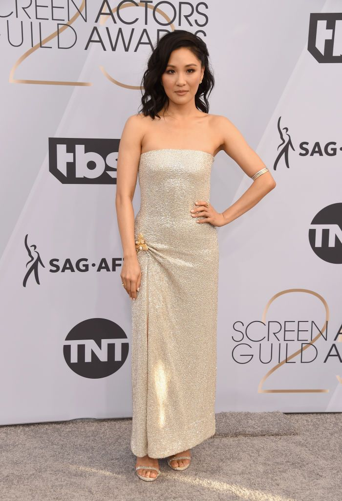 Constance Wu in Vera Wang | Golden Globes After Party 06