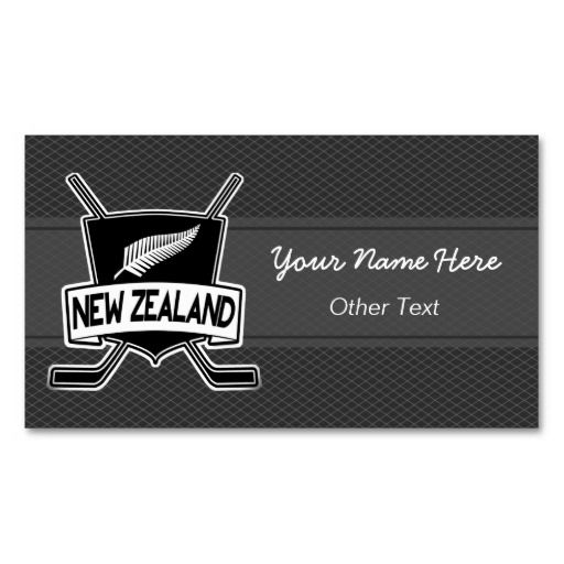 New zealand ice hockey custom business cards ice hockey business new zealand ice hockey custom business cards easy to customize double sided printing reheart Gallery