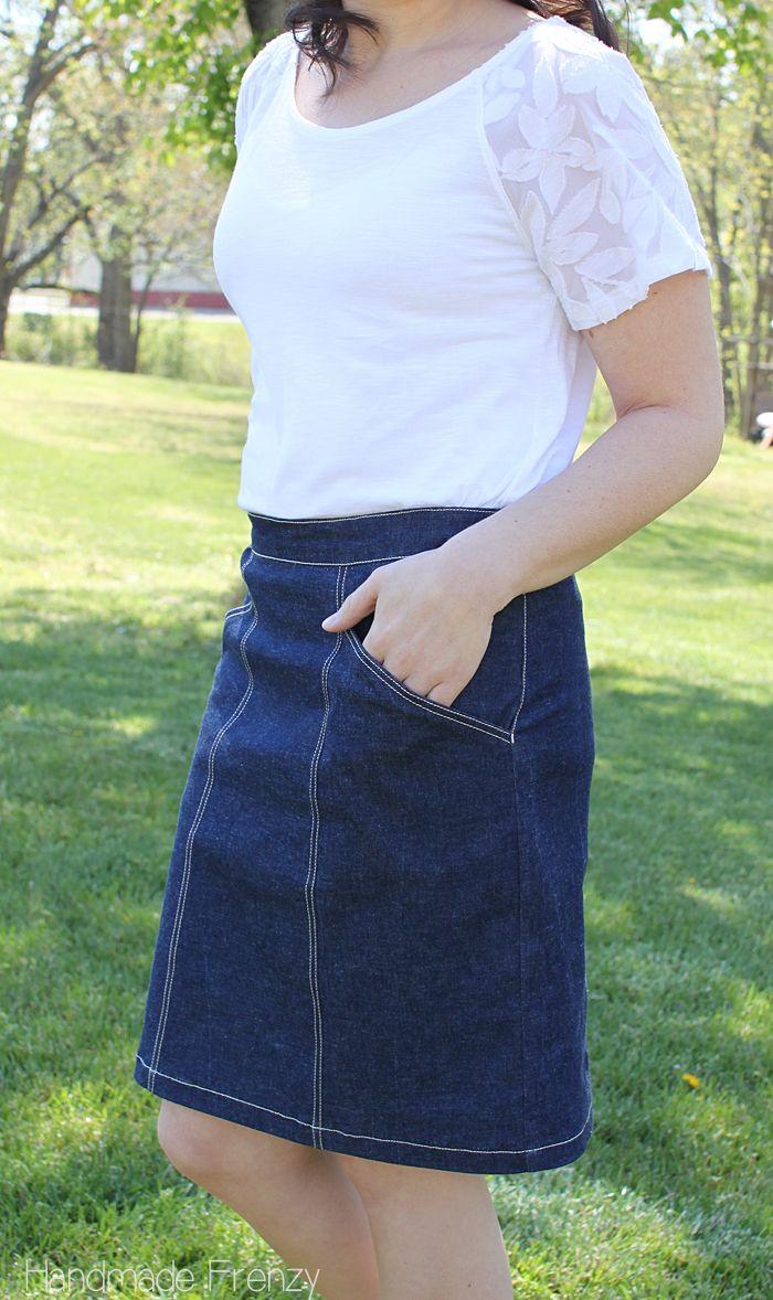 selfish sewing week: colette selene skirt