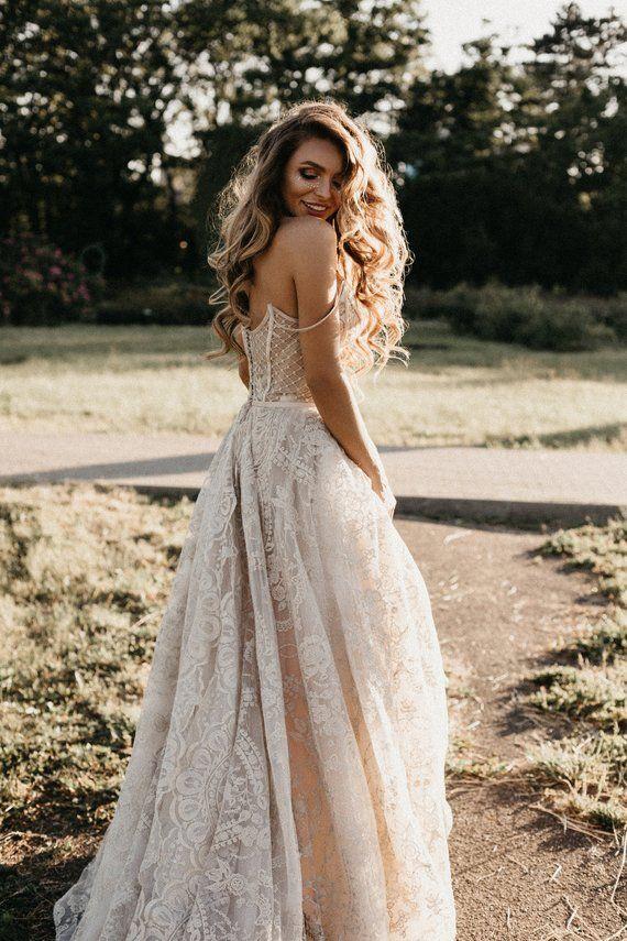 Photo of Königliches Hochzeitskleid LOVIA mit langem Zug • Prinzessin Hochzeitskleid • Luxus-Hochzeitskleid
