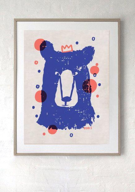 SALE Linen Tea towel & Art Print LAST CHANCE limited by Laikonik