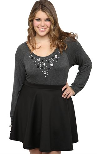 Debs plus size black skirt   Clothes I Totally Need   Plus ...