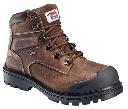 Avenger Safety Footwear Men's 7258 Rugged Puncture Resistant EH WP Boot,  Size: W, Brown