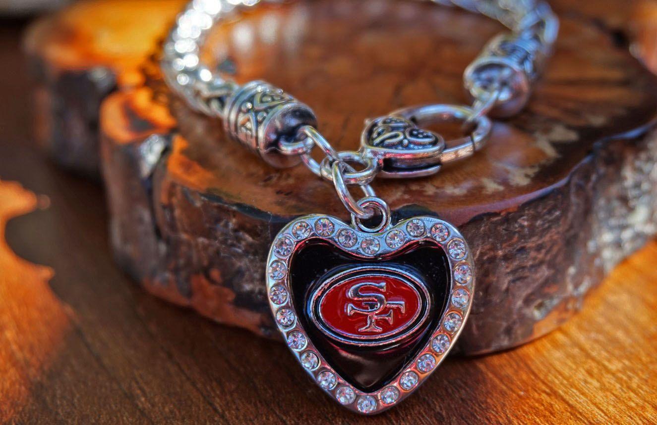 San francisco er football unisex bracelet red gold nfl sports team