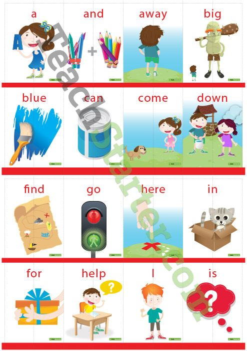Dolch Sight Word Puzzle with Pictures – Pre-Primer (2 pieces) Teaching Resource