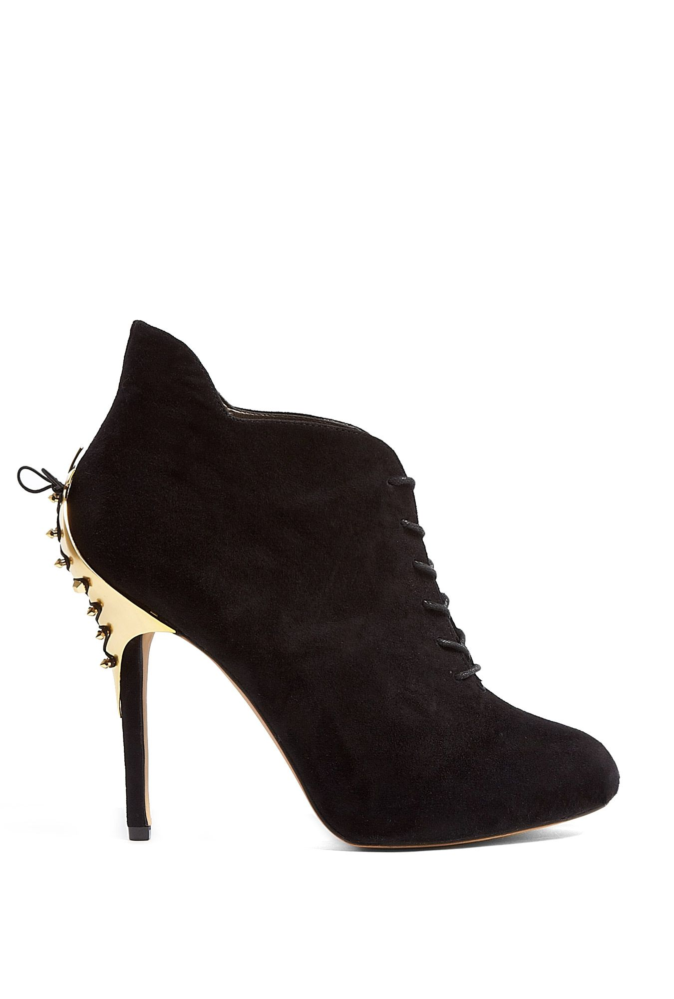 Black Suede Lace Up Elsa Ankle Boots by Sam Edelman