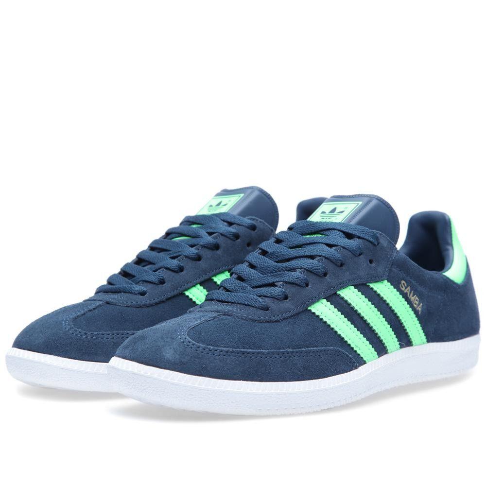 c9c5d8fe98e Adidas Samba (Deep Petrol   Green Zest)