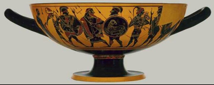 Kylix 540 To 530 Bc Ceramics Pinterest Black Figure And