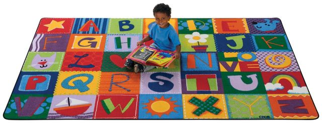 Ck 3800 Toddler Alphabet Blocks Carpet 6 X9 Kids Carpets And