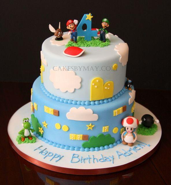 Mario Bros Birthday Cake by Cakes by Maylene via Flickr pasteles