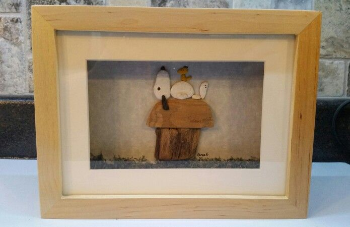 "Island Pebble Art "" Snoopy "" available online at Facebook.com/islandpebble&seaglassart"