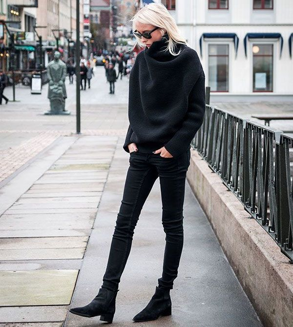 look-inverno-all-black-skinny-jeans-e-bota-flat
