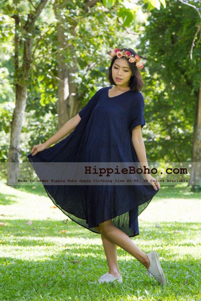 Plus Size Tunic Summer Dress Plus Size Everyday Dress Hippie Boho