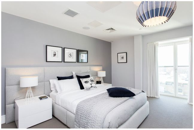 Houzz Grey Headboard Bedroom Decoracao Quarto Cinza Quarto