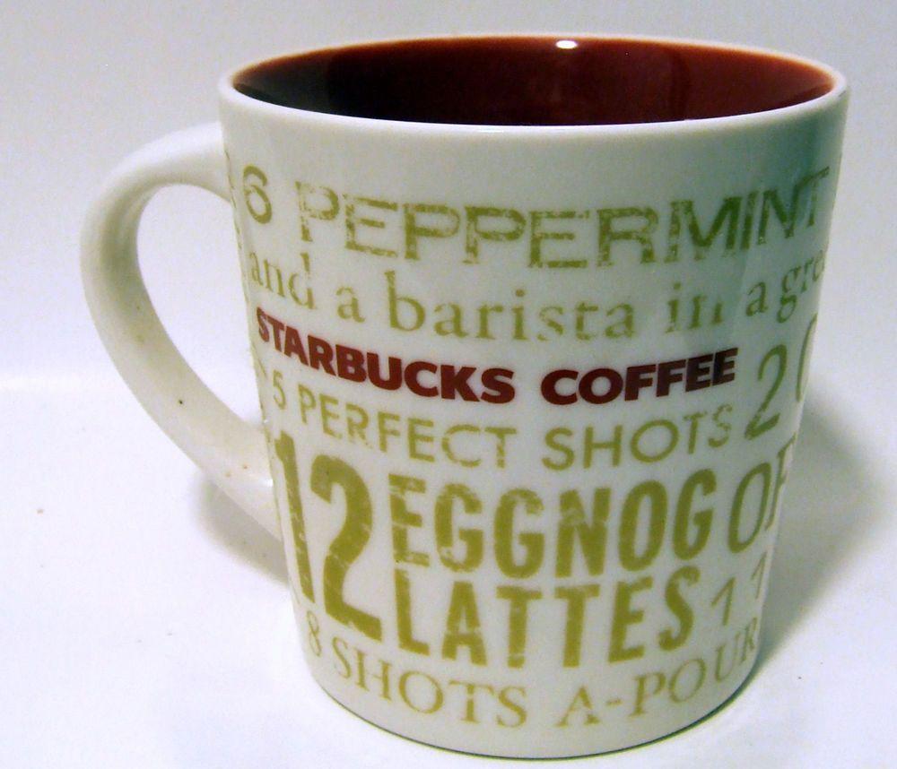 Starbucks 12 Days Of Christmas Holiday Mug Coffee Tea Cup