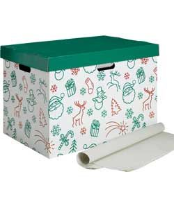 Lidded Christmas Decoration Storage Box with Wrap. From .Argos.co.uk  sc 1 st  Pinterest & Lidded Christmas Decoration Storage Box with Wrap. From www.Argos.co ...