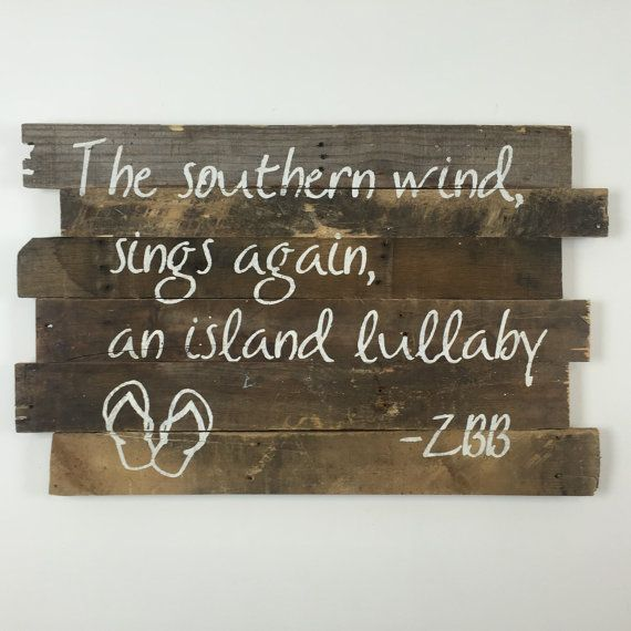 This Beach Wall Art Brings Zac Brown Bands Lyrics To Life With The Nautical Beachy Vibe Of This Wall Hanging You Can Beachy Fun Projects For Kids Wall Hanging