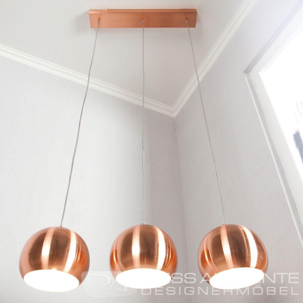 Elegante Design Hängeleuchte LIGHT BALLS Kupfer 20cm
