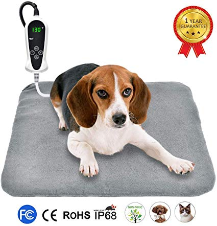 Riogoo Pet Heating Pad Upgraded Electric Dog Cat Heating Pad Indoor Waterproof Auto Power Off Pet Heating Pad Dog Cat Pets