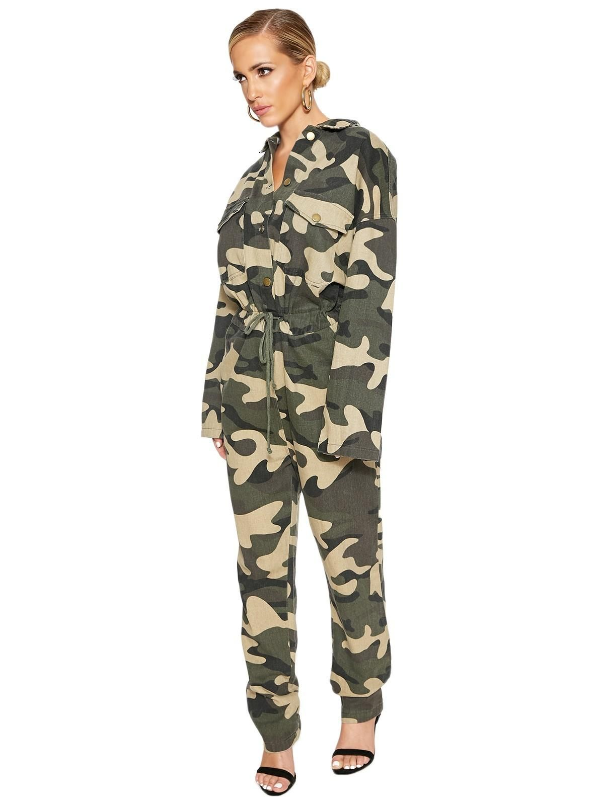 All Out Army Jumpsuit Jumpsuits Womens Clothes Shoes And Bags