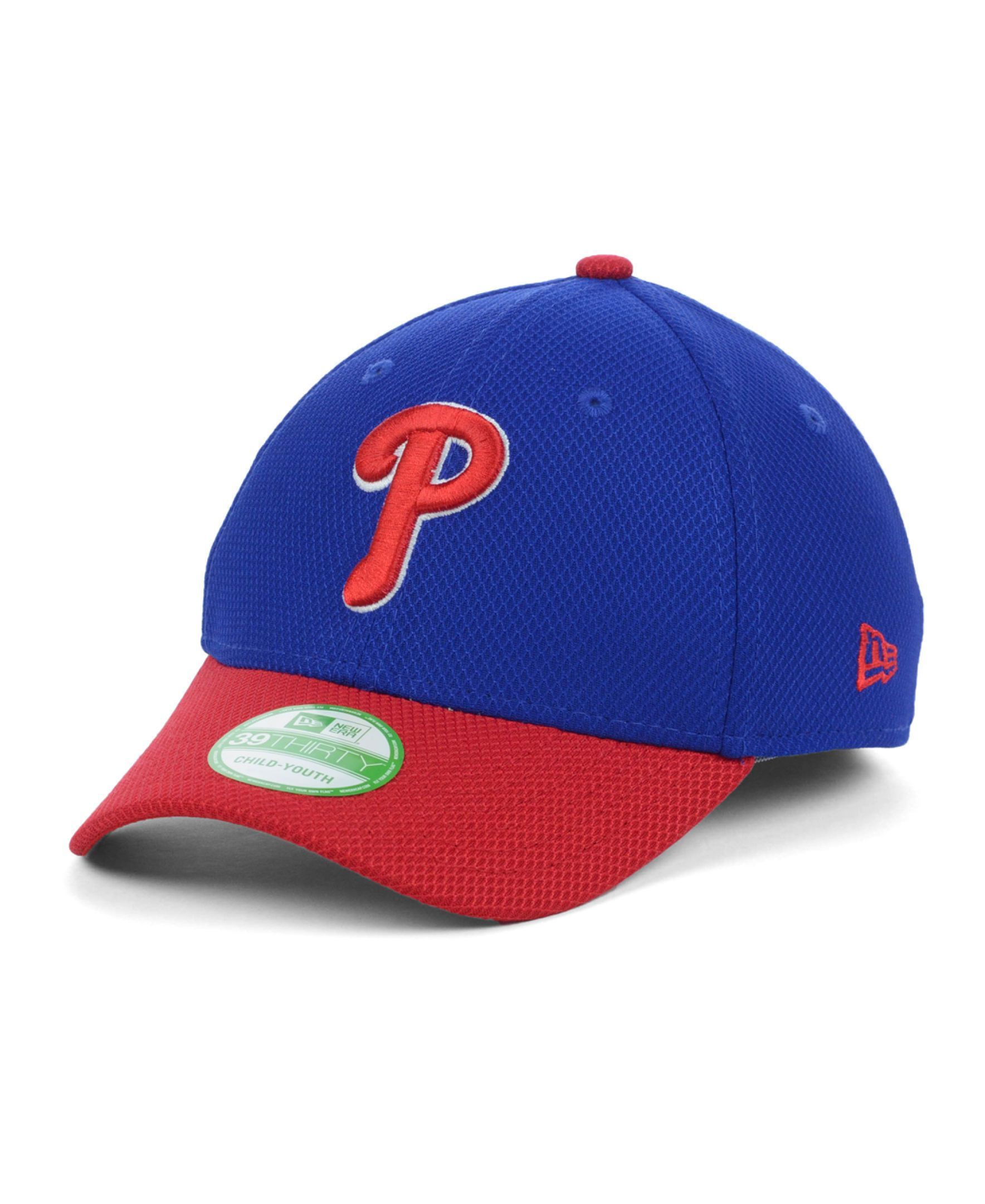 super popular 8cad2 13bef New Era Kids  Philadelphia Phillies Diamond Era 2 Tone 39THIRTY Cap