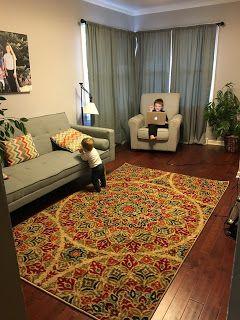 Crazy House Reviews Room Makeover Featuring Mohawk Home Strata Jerada Printed Rug Ilovemymohawkrug