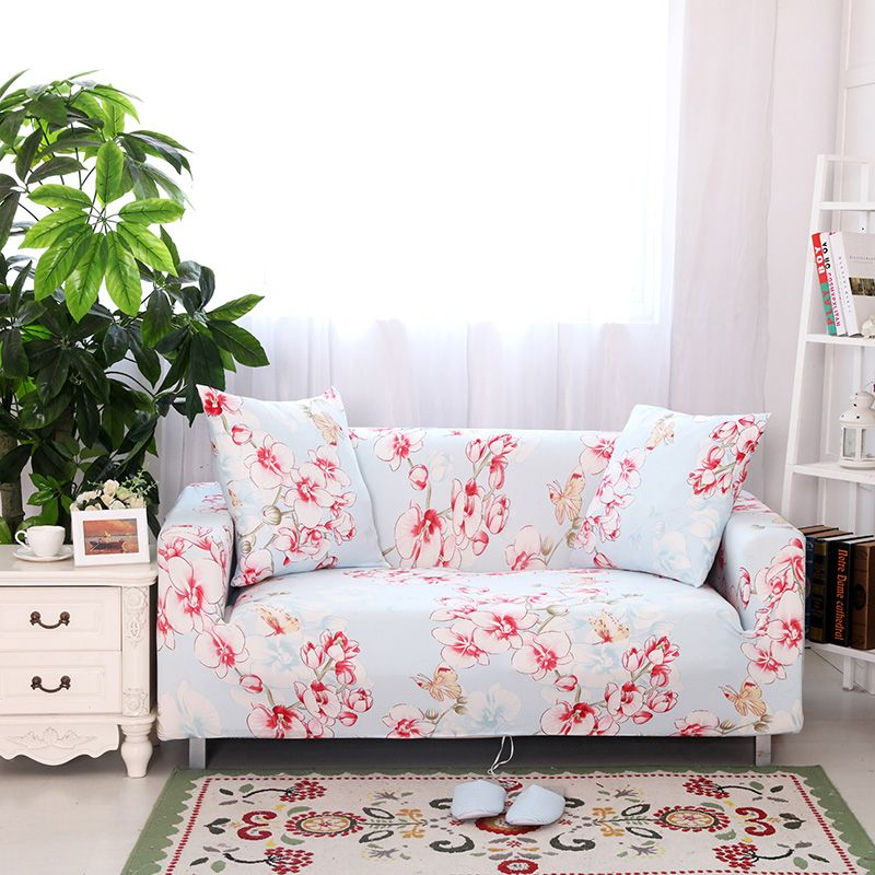 25 46USD Sweet pink floral sofa cover stretch universal elastic
