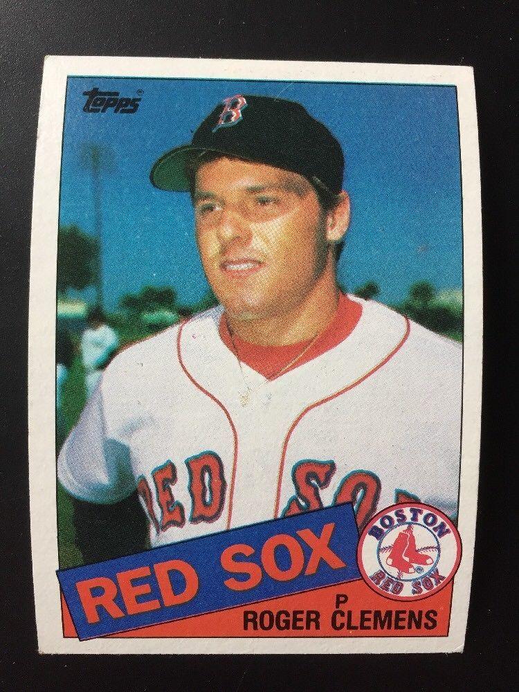 1985 Topps Baseball Card Roger Clemens 181 Boston Red Sox Rookie Card Baseball Cards Baseball Trading Cards Baseball Card Values