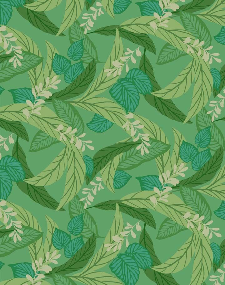 Green Leaf Pattern Officetrends Inspiration Patterns