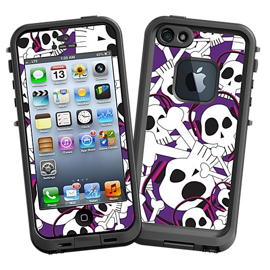 Skull Prince with Beats on Purple #Skin  for the #lifeproof #iphone5 and #iphone5s #Case by #Skinzy.com