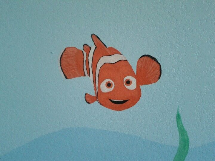 Nemo for our baby's room. My husband's art work.