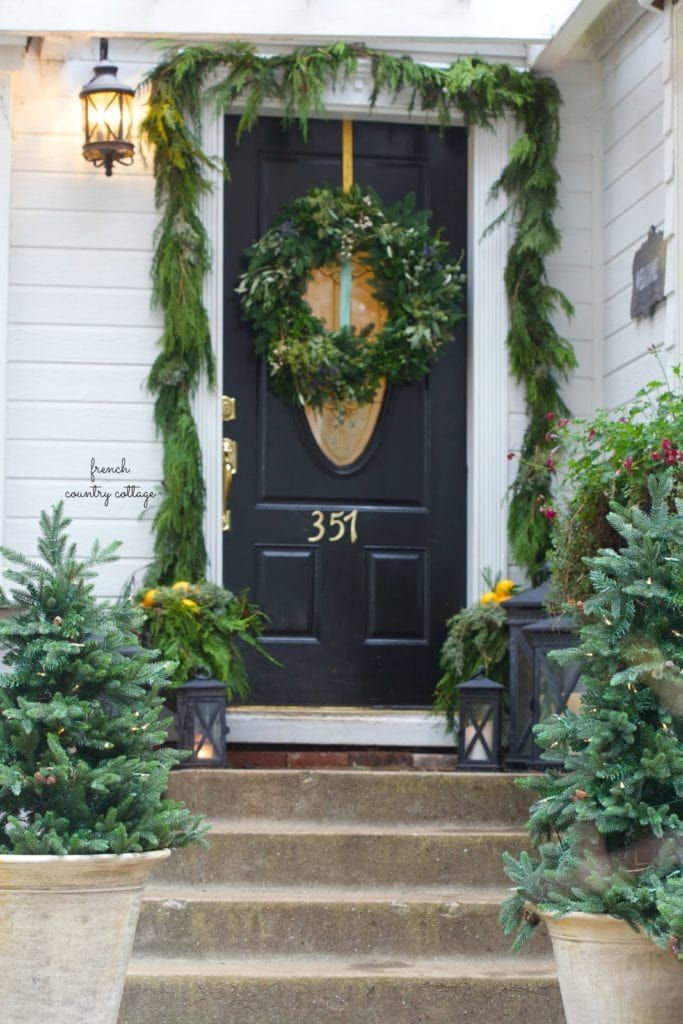 Christmas in July- Natural Front Porch Decorating - French ...
