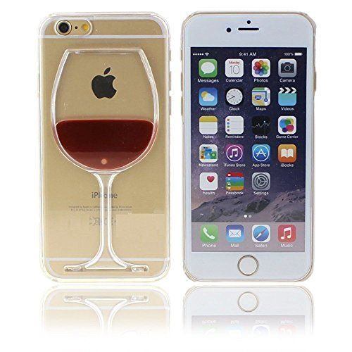 Iphone 6 Case,KULL& Red Wine Glass 3d Creative Design Hard Shell Liquid Flowing Dual Layer Hybrid Bumper Double Protection Clear Hard Back Case Cover for Iphone 6 4.7 (Iphone 6 4.7 Red Wine), http://www.amazon.com/dp/B01C9TELTK/ref=cm_sw_r_pi_awdm_iaZ4wb0P5NDPP