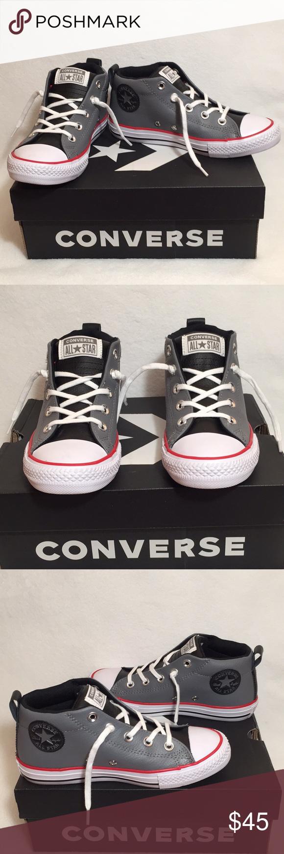 82b6b8684c89 NIB Converse Chuck Taylor All Star Juniors Size 2 Converse New In Box  Leather Chuck Taylor