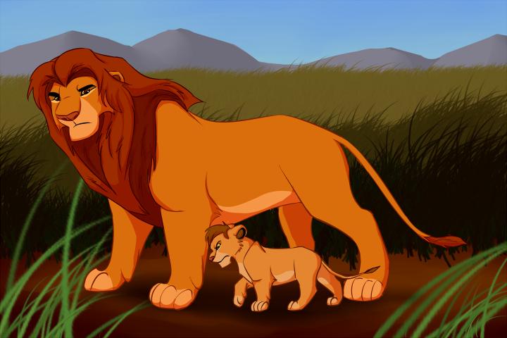 Father And Son Lion King Art Lion King Fan Art Lion King