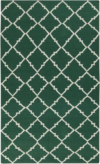la alfombra.  mi alfombra es verde y grande
