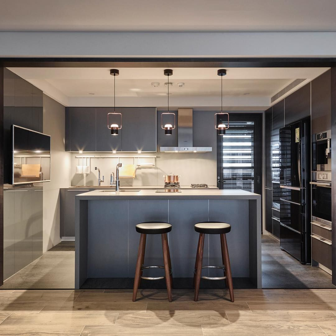 A Lovely And Modern Kitchen With Our Singular Pendant Ling Space Design 耀昀設計 Featured Pr Led Pendant Lights Home Lighting Design Wall Lamp
