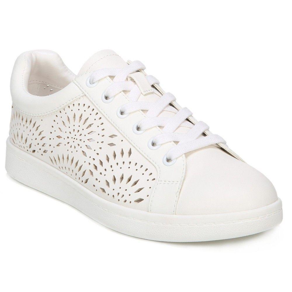 106aab664a4f Women s Sam   Libby Laser Cut Slide Sneakers - White 7.5