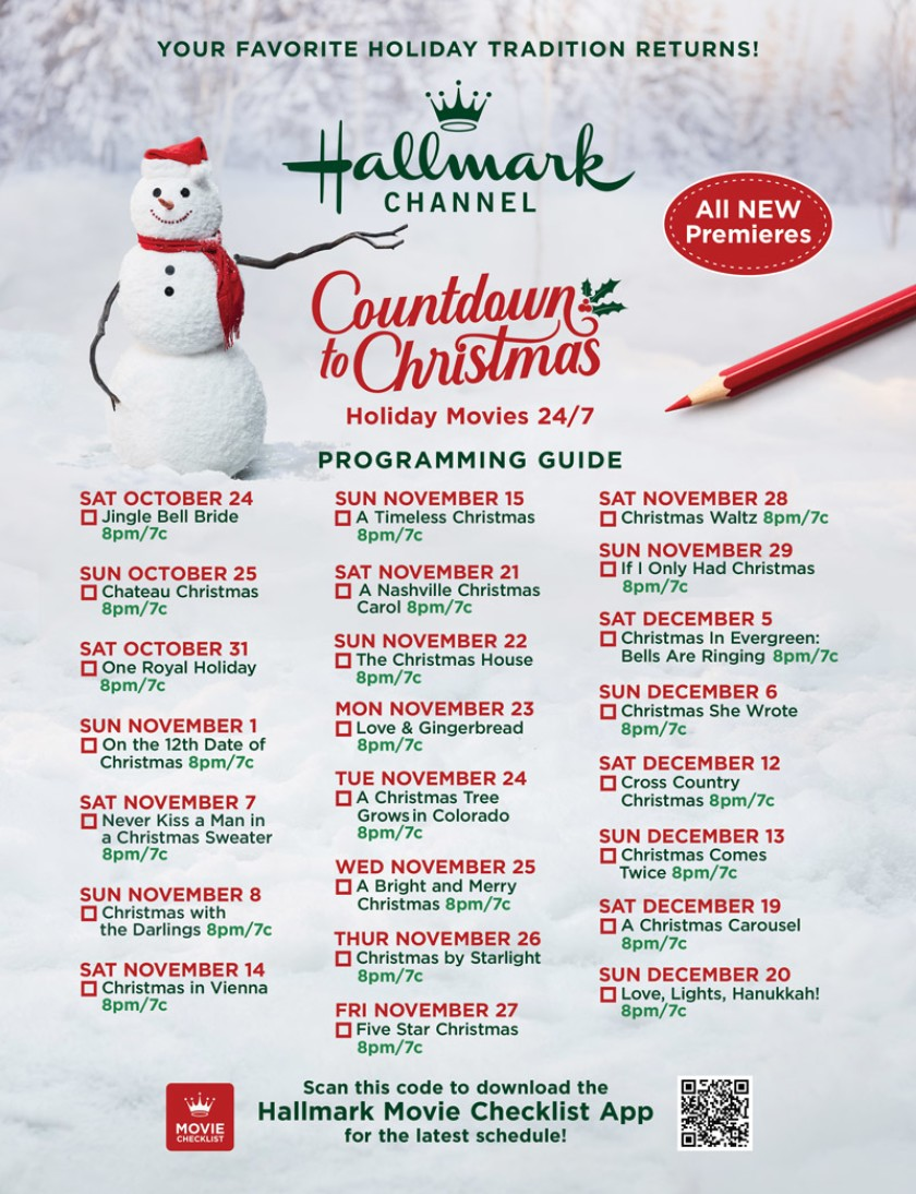 Movie Guide Countdown To Christmas 2020 In 2020 Hallmark Christmas Movies Hallmark Christmas Holiday Movie