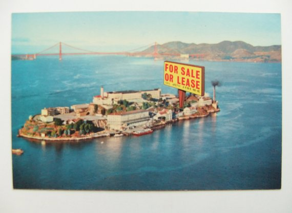 Alcatraz Island San Francisco Postcard Unused Vintage Postcard