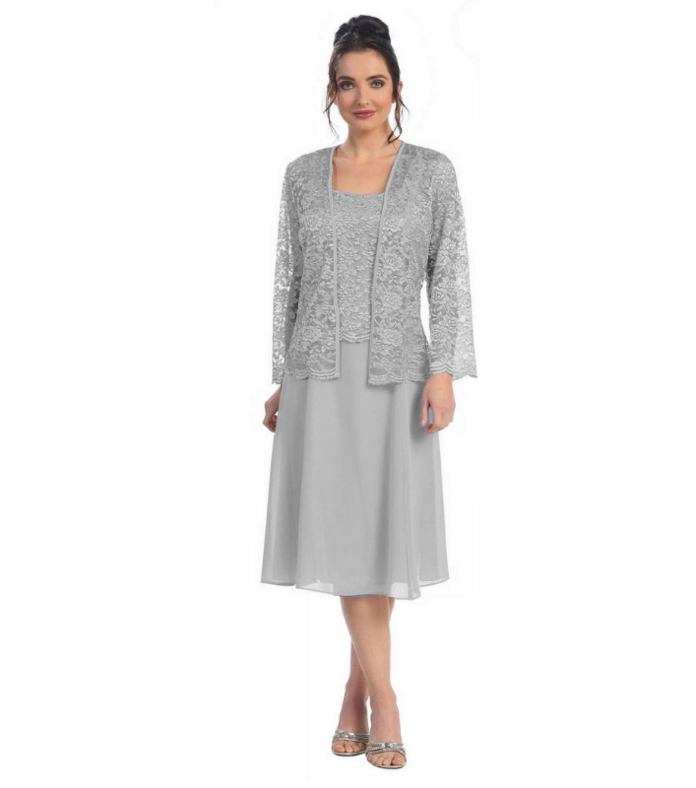 Shop short mother of the bride groom modest dress with jacket comes