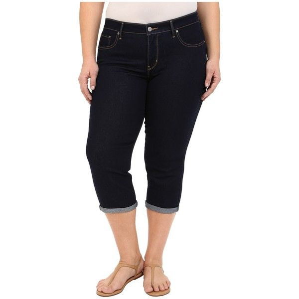 Levi's Plus Plus Size Shaping Capris (Darkest Sky) Women's Jeans ...